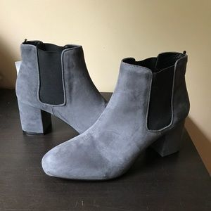 H&M Grey Ankle Boots Block Heel